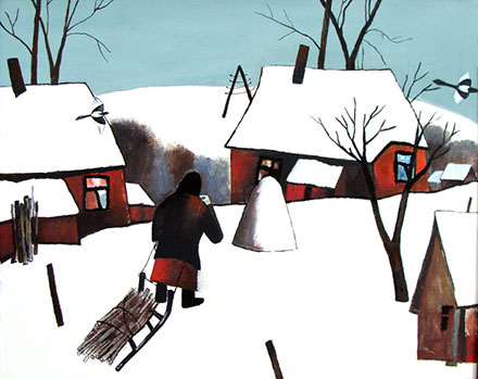 Алексей Новиков. Зима вдеревне. 1991