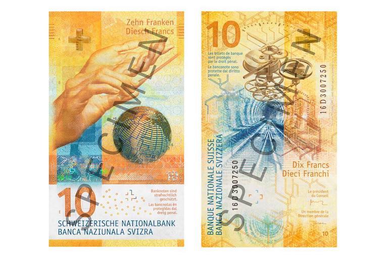 новая купюра 10 франков