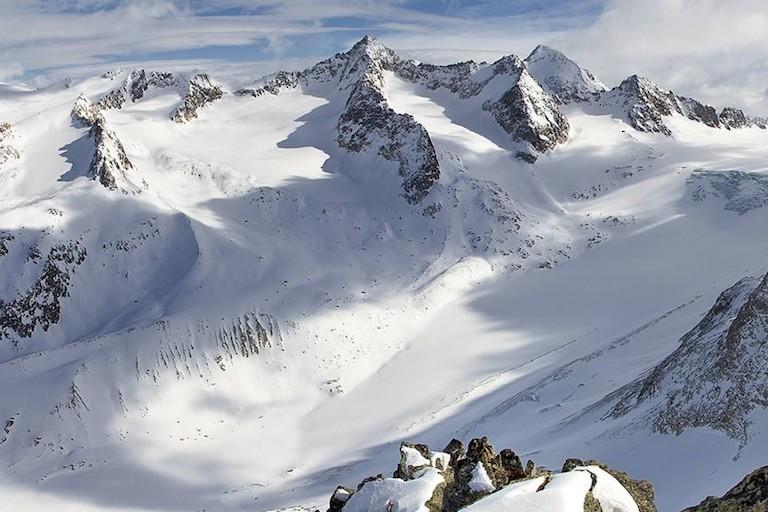 ледник в Швейцарии