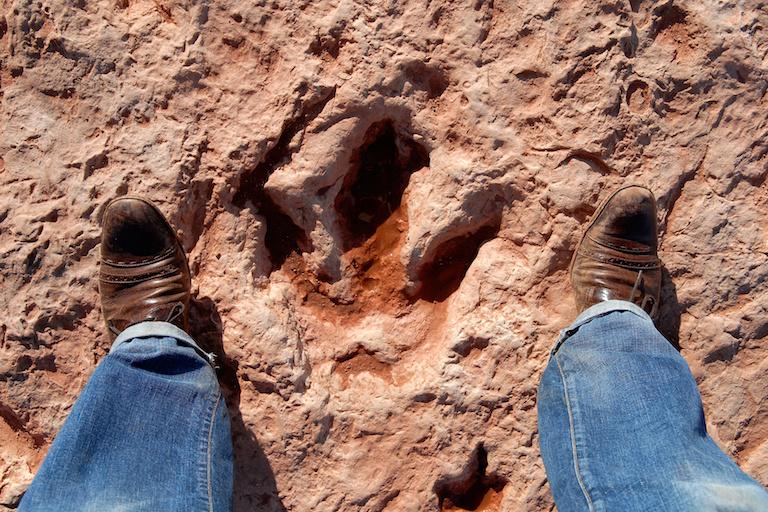 След динозавра в Граубюндене